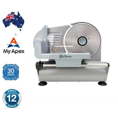 Flora Meat Slicer 2 Stainless Steel Blades Household 12 Months Warranty