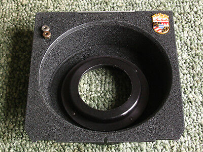 Linhof Technika 4x5'' wide angle recessed lens board with Copal 0 size flange
