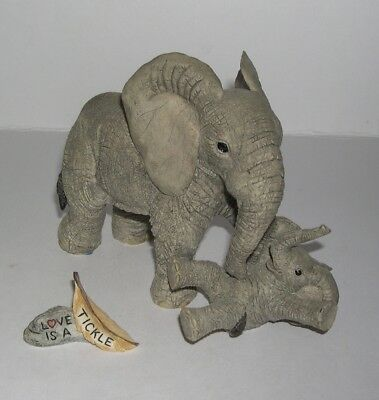 Country Artists Elephant Tuskers Love is A Tickle with Name Tag 90855 from 2000