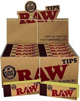 Raw Natural Unrefined Filter Tips Chlorine Free Roach Book Papers Filter Tips