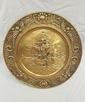 Large brass 3d popout wall plate ( extremely rare )