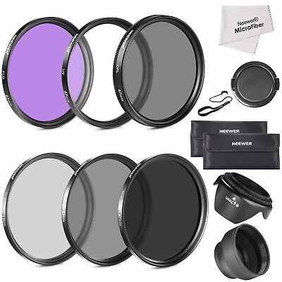 Neweer Pro 67mm ND2 N4 ND8 UV CPL FLD Lens Filter Accessory Kit For Canon Nikon