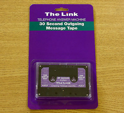 The Link 30 Second Endless Loop Answering Machine Outgoing Message Cassette Tape