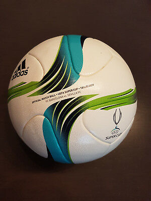 Official Match Ball SUPER CUP TBILISI 2015, FC Barcelona,Messi,Worn, Issued