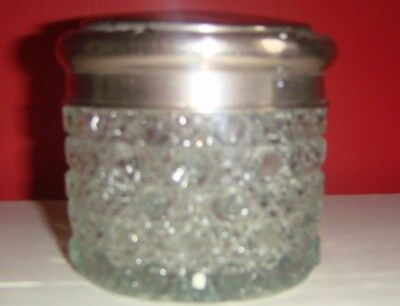 vintage glass and silver jar