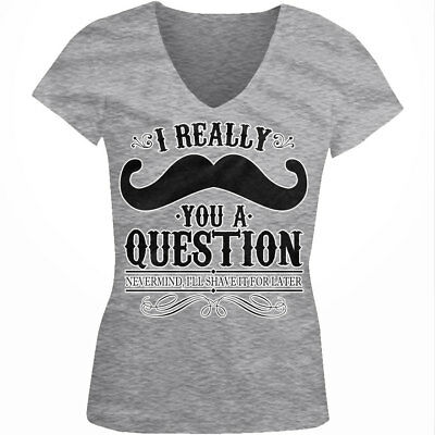 """Angry Panda  /""""I Moustache you a question/""""  Juniors Fitted T-Shirt"""
