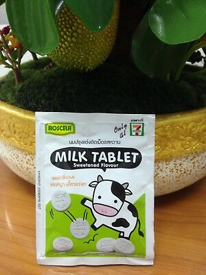 ROSCELA BRAND THAI MILK TABLET Sweetened Flavour New Good Food 20 g.