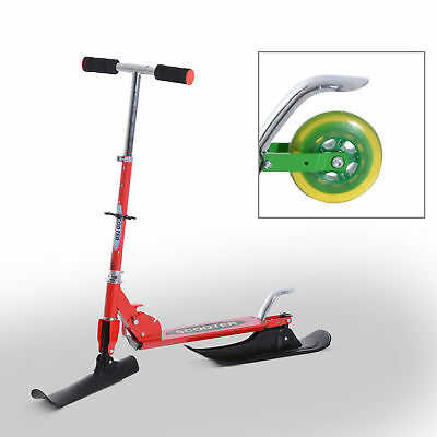 """36.2"""" Folding 2in1 Snow Scooter Snowboard Kick-Scooter Ski Scooter Red"""