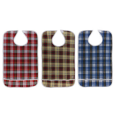 Adult Disability Clothes Protector Mealtime Bib Apron Waterproof Anti-Oil