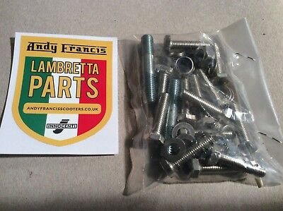 Lambretta  stainless steel chaincase bolt and stud set