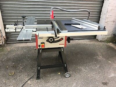 Axminster TS 250M Table Saw 240v w/ extension and sliding table kit