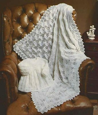 100+ Vintage Shawls & Blanket ~ BABY  ~ Crochet & Knitting PATTERNS on disc