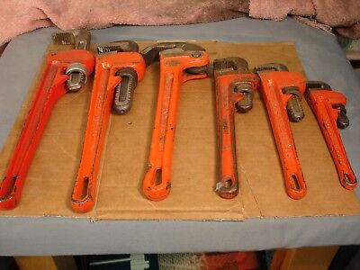 6 Graduated Wrenches Ridged Fuller Heavy Duty 8 10 10 12 14 14 USED USA Taiwan