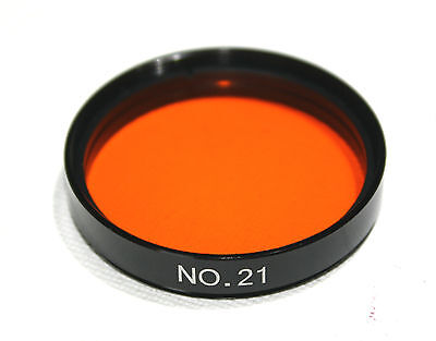 "2"" Farbfilter Orange Nr. 21 Teleskop Foto Filter 2 Zoll Inch"
