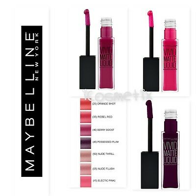 Maybelline Color Sensational Vivid Matte Liquid Lip Gloss - Choice of Shades