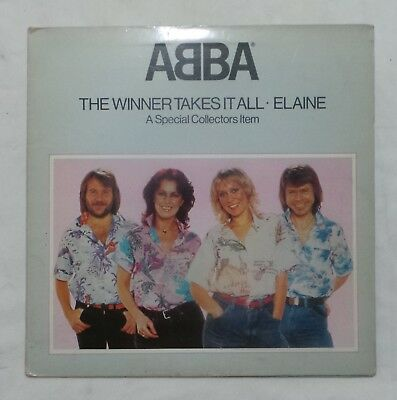 """ABBA – THE WINNER TAKES IT ALL – 12"""" Single in Pop Up Picture Sleeve EPC12-8835"""