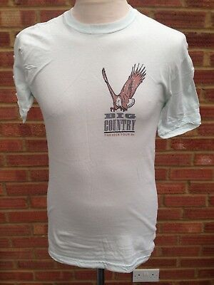Big Country TShirt 1986 The Seer Tour Band Merchandise Eagle Mark Brzezicki 34""