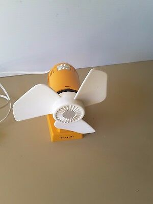 Retro  vintage 70's space-age plastic BREVILLE  electric fan eames / kartell-era