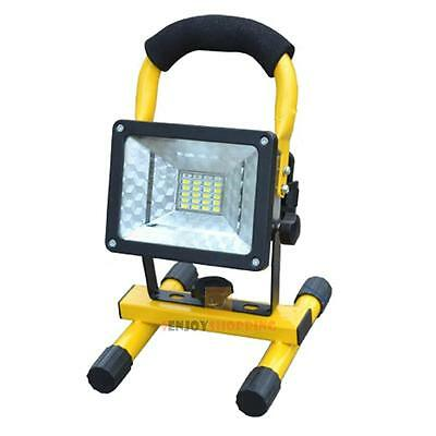 Portable Waterproof IP65 30W 24 LED Floodlight Work Light Spotlight Rechargeable