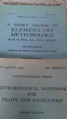 Meteoroligical Office /Air Ministry Handbook for Pilots and Navigators 1942 WW2