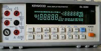 Kenwood DL-2051 Digital Bench Multimeter with cables & probes