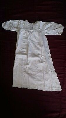 1950s VINTAGE EMBROIDERED CHRISTENING DRESS, WHITE COTTON