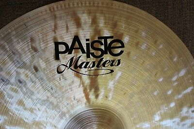 "PAISTE 19"" Masters Series Dark Crash Cymbal."