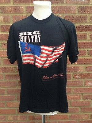 Big Country TShirt 88/89 Peace In Our Time Tour Merchandise Mark Brzezicki 44""