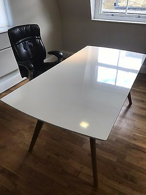 White Gloss Executive Office Desk