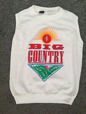 Big Country Vest 1983 Crossing The Country Tour Merchandise Mark Brzezicki 38""