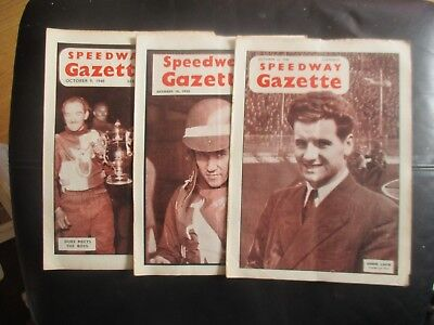 1948 Collection (11) Of 3  Of The  Speedway Gazette  Magazine