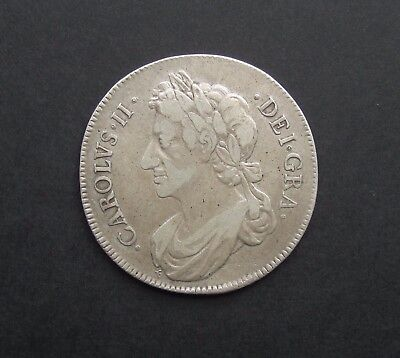 Scotland Charles Ii 1676 Silver Half Dollar - Extremely Rare Key Date - Vf
