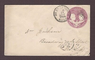 mjstampshobby 1893 US Vintage Cover Used (Lot4846)