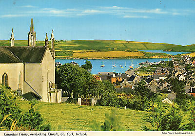 postcard Ireland  Carmelite Friary overlooking Kinnsale  Co Cork posted  Hinde