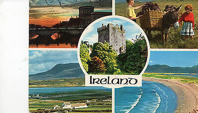postcard Ireland  multiview   posted  Hinde