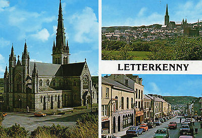 postcard Ireland  multiview  Letterkenny multiview un posted  Hinde