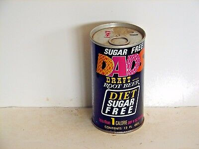 Sugar Free Dads Root Beer; Seven-Up Bottling Co; Oshkosh, WI; steel soda pop can