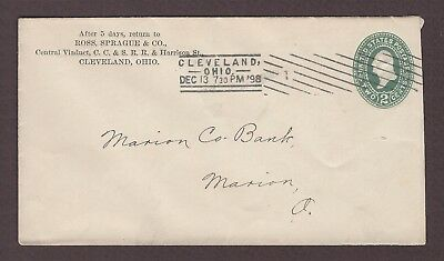 mjstampshobby 1898 US Famous Ross Sprague and Co Vintage Cover Used (Lot4848)