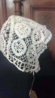 Exquisite Bobbin Lace Antique Babies Cap