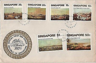 1971 Singapore 'Art' sg165-170 Large Format First Day Cover