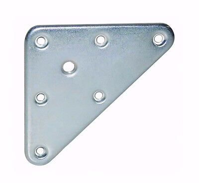 Triangular Table Mounting Plates with M8 Fixing Hole - Rounded Corners - Steel