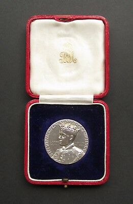 Edward Viii 1911 Investiture Prince Of Wales Silver Medal - In Original Rm Case