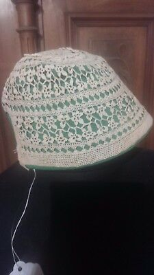 Baby's Antique Crochet Bonnet