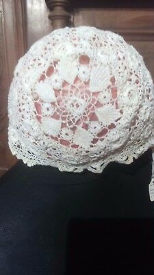 Indian Crochet Cap C 1940  Antique Babies Cap