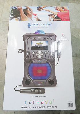 Singing Machine Carnaval Karaoke System W/ Monitor Lights & All Accessories New