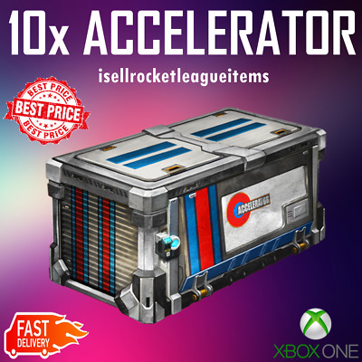 *** BEST PRICE - ONLINE NOW *** 10x Rocket League ACCELERATOR CRATE [Xbox One]
