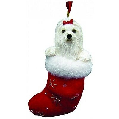 Maltese Santa's Little Pals Dog Christmas Ornament