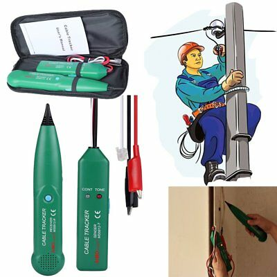 Telephone Phone Network Cable Wire Line RJ Tracker Toner Tracer Tester W/Bag OY