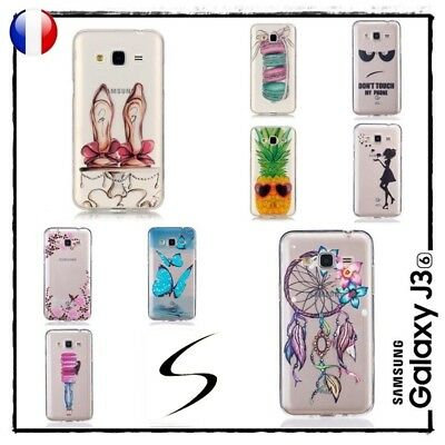 Etui Housse Coque Transparente Silicone TPU Case Cover Samsung Galaxy J3 2016