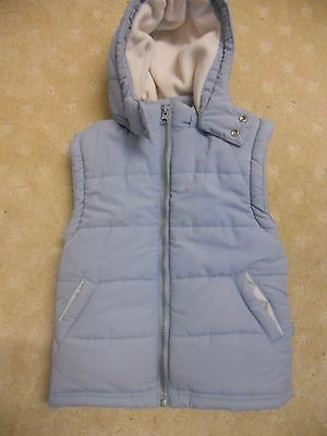 Boys Pumpkin Patch fleecy lined padded vest with hood Size 2